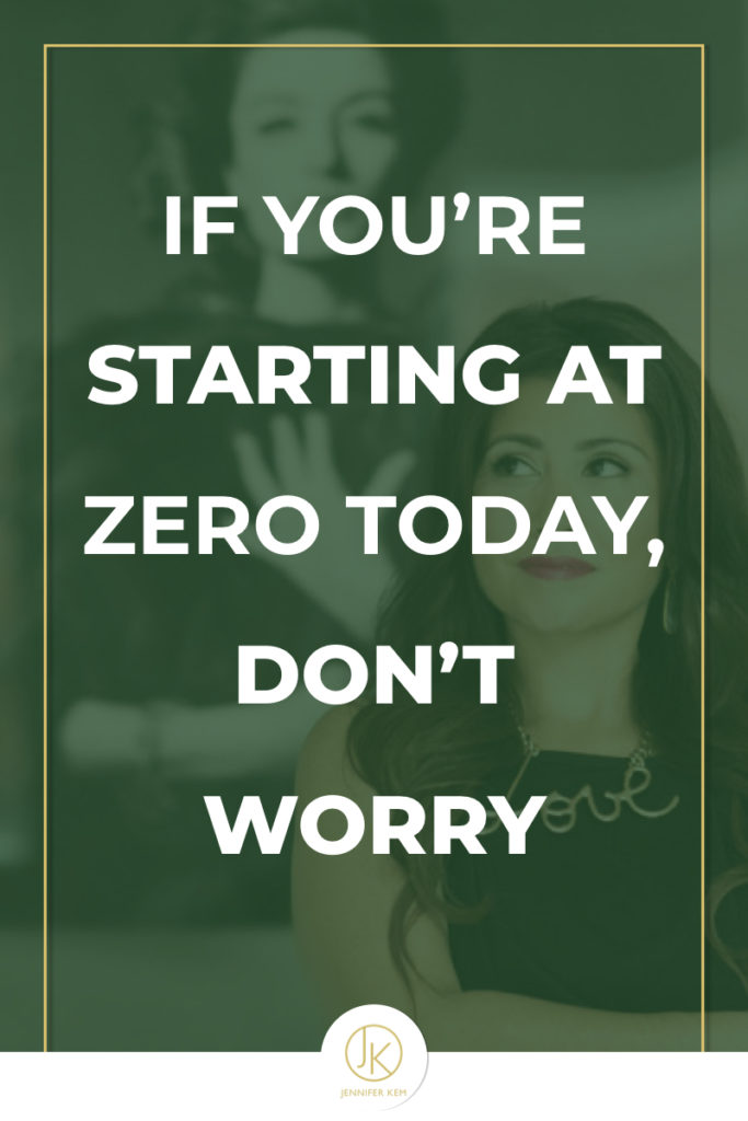 If you're starting at zero today, don't worry.001